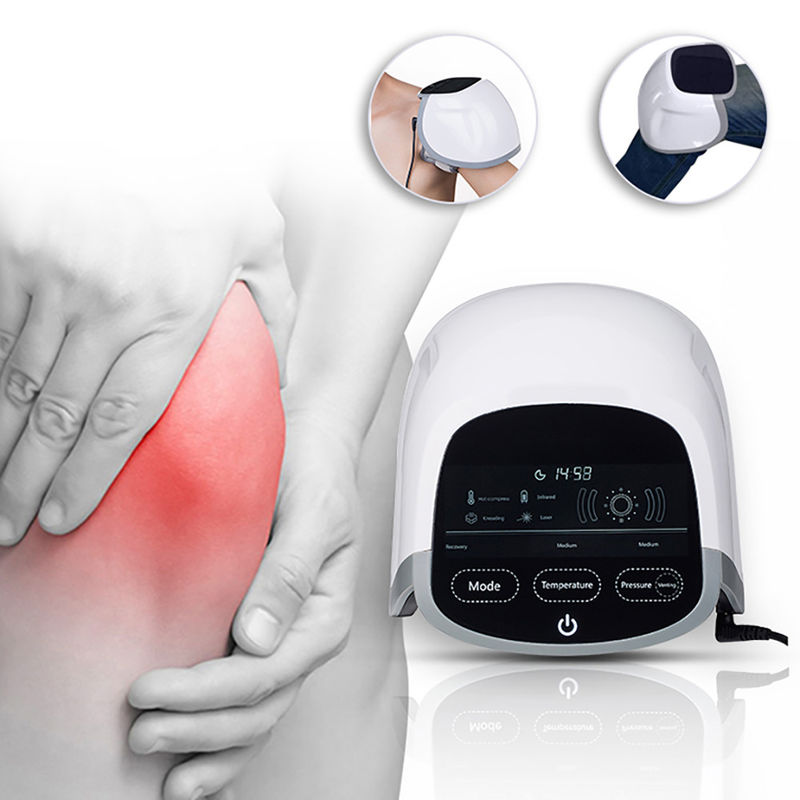 Knee Pain Relief Laser Therapy Machine ABS Material With Heating Airbag Massage